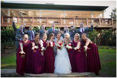Burgundy and gray wedding