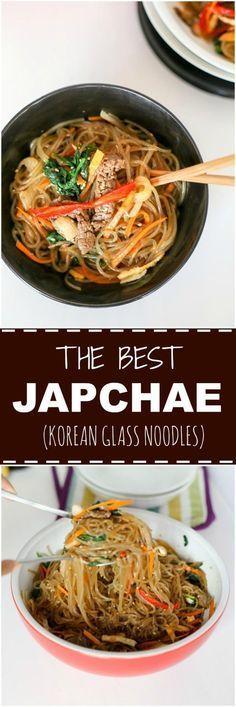 The very best japchae recipe! It's full of savory deliciousness!   MyKoreanKitchen.com via @mykoreankitchen