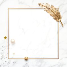 Luxury festive frame on white marble social template mockup | premium image by rawpixel.com / sasi Gold Wallpaper Background, Poster Background Design, Framed Wallpaper, Background Patterns, Textured Background, Wallpaper Backgrounds, Schrift Design, Instagram Frame, Jolie Photo