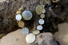 Capiz shell necklace and earring jewelry set