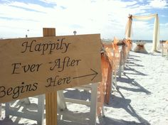 Happily Ever After Begins Here!!!  Created by Simple Elegant Weddings