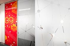 AICT Office Environmental Graphics by The Globe , via Behance
