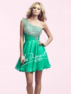 Teal Homecoming Dress | Mac Duggal 64900N