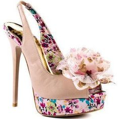 Floral style shoes <3