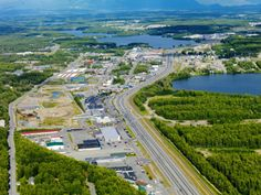 Photographic Print: Downtown Wasilla, Alaska, USA Poster by Paul Andrew Lawrence : North To Alaska, Alaska Usa, Alaska Travel, Alaska Salmon Fishing, Wasilla Alaska, Fairbanks Alaska, Road Trip Usa, Vacation Places, Aerial View