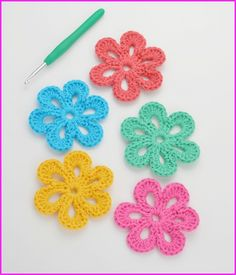 Crochet Flowers Pattern Pictures Of Crochet Flowers Patterns Easy Wwwkidskunst Crochet Flowers Pattern Crochet Flowers 90 Free Crochet Flower Patterns Diy Crafts. Crochet Flowers Pattern Free Crochet Patterns And Designs Lisaauch. Beau Crochet, Crochet Puff Flower, Crochet Flower Tutorial, Crochet Motif, Crochet Flowers, Single Crochet, Blanket Crochet, Crochet Baby, Crochet Leaves