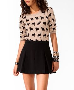 Ditsy Fox Sweater | FOREVER21 - 2021840254