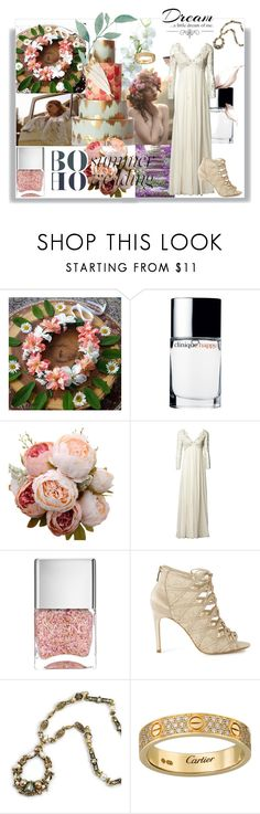 """Boho Wedding"" by kelly-floramoon-legg ❤ liked on Polyvore featuring Free People, Clinique, Matthew Williamson, Nails Inc., Sweet Romance, Love Quotes Scarves and summerwedding"