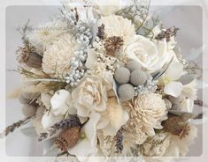To answer many of your questions, please read entire listing before placing your order. :-)  This Silver Ice everlasting bouquet is handmade