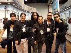 Freddie Gutierrez, Neal Nagaoka, Stephen Ross, Ponch Satrio, Dave Martone and Daniele Gottardo at NAMM