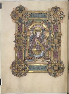 From the Medieval Manuscripts blog post 'The Benedictional of St Æthelwold'.