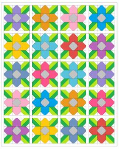 Sew Fresh Quilts: Pretty Posy FREE Quilt Block Tutorial