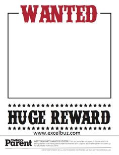Printable Wanted Poster Templates  Excel Invoices And Project