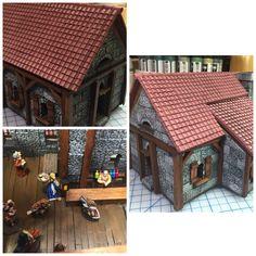 Village Inn Exterior and Interior - Hirst arts molds- work in progress