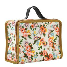 Mini suitcase with floral print