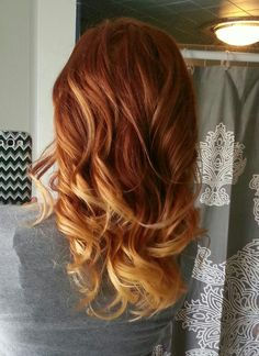 Hmmm...red hair ombre I love both of these colours, idea for the summer? ;D