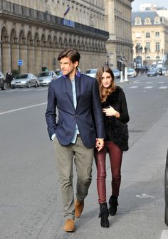Leather (Olivia Palermo and Johannes Huebl)