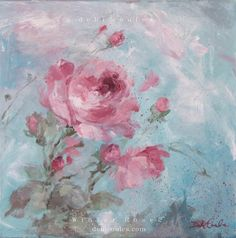 Winter Rose 2 Original Painting by Debi Coules