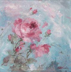 Winter Rose 2 Original Painting by Debi Coules