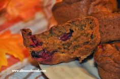 #Pumpkin Muffins- #glutenfree; made here #oatflour with added cranberries. Pumpkin is packed with Potassium and Vitamin A-great for bones, teeth, and eyes.  Dental Health-foods and nutrition advice from Altman Dental:www.toothfood.com