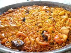 Arroz del senyoret - antoniobru - Receta - Canal Cocina Cuban Recipes, Rice Recipes, Great Recipes, Spanish Recipes, Spanish Cuisine, Spanish Food, Polenta, Couscous, Quinoa