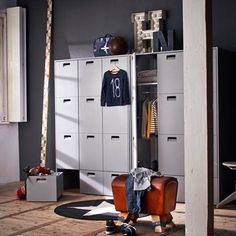 Childrens Pine Wardrobe Store in Grey. Part of our luxury Kids Furniture range, this unique Wardrobe Store in Grey has enormous amounts of space!