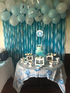 Baby Shower or bday: Balloons & Streamers Backdrop! Saving all the ...