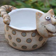 Žardiny Ceramic Animals, Ceramic Art, Cat Art, Pottery, Gallery, Creative, Vases, Mesas, Pots