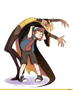 Dipper Pines and Humanized Bill Cipher (Gravity Falls) Gravity Falls Dipper, Gravity Falls Anime, Gravity Falls Fan Art, Gravity Falls Bill Cipher, Gravity Falls Comics, Bill From Gravity Falls, Billdip, Bubbline, Dipper And Bill
