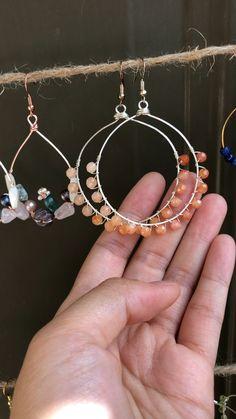 Elegant Earrings - - bisuteria illustration m Diy Jewelry To Sell, Handmade Wire Jewelry, Diy Jewelry Making, Earrings Handmade, Jewelry Crafts, Jewellery Diy, Handmade Jewelry Designs, Handmade Silver, Diy Earrings Easy