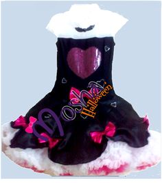 Adorable vestido de moños con diseño para las nenas Moshas en colores para Noche de Halloween.