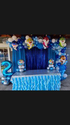 Baby Boy Birthday Themes, Boys First Birthday Party Ideas, Bubble Birthday, 1st Birthday Party Invitations, Girl Birthday Decorations, Boy Birthday Parties, 3rd Birthday, Shark Party Decorations, Baby Shark