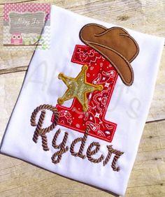 Camisa Western vaquero cumpleaños. Encargo por AbbyJsCustomMade