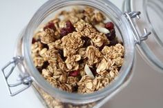 All Natural Baked Granola Adapted from Forks over Knives recipe (good way to get rid of those dried dates we got at Christmas)