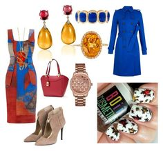 """""""Fall outfit"""" by boiicosmetics on Polyvore featuring Lauren Ralph Lauren, Hobbs, GUESS, Monet, Goshwara and Effy Jewelry"""