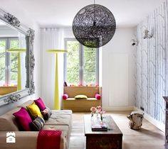 Aranżacja wnętrza w kamienicy - salon. - zdjęcie od STUDIO.O. organic design