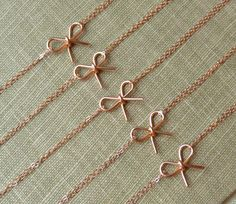 Rose Gold Bow Bracelet bridesmaid jewelry by vintagestampjewels, $27.50@BeeBee Bird .@Sienna Powell. I am a 6.5 :()