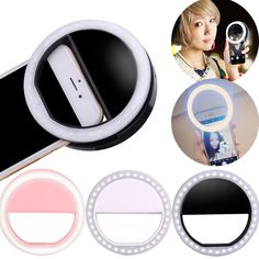 Selfie LED Flash Light Up Universal Mobile Phone Selfie Luminous Ring Clip For For iPhone 8 8x 7 6 6S Plus Samsung Xiaomi Huawei //Price: $4.99// #shop
