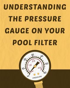 You can read the pressure on your pool filter pressure gauge and use that number (PSI) as a guide to properly care for your pool. Pool Pumps And Filters, Pool Filters, Pool Cleaning Tips, Swimming Pool Maintenance, Pool Sand, Stock Tank Pool, Diy Pool, Pool Accessories, Pools