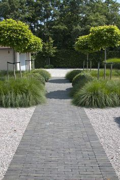 Large backyard landscaping ideas are quite many. However, for you to achieve the best landscaping for a large backyard you need to have a good design. Back Gardens, Small Gardens, Outdoor Gardens, Garden Paving, Garden Paths, Contemporary Garden Design, Landscape Design, Path Design, Design Ideas