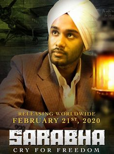 Sarabha is a 2020 Punjabi biopic movie directed by Kavi Raz. The film stars Japtej Singh and Jaspinder Cheema in the lead roles. Biopic Movies, Films, Live Tv Free, Lead Role, Release Date, Movie Trailers, Writer, It Cast, Songs