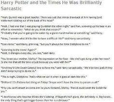 Harry Potter sarcasm