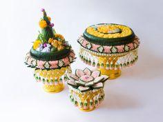 พานขันหมากขันหมั้น Thai wedding traditional floral.