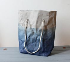 Beach tote shoulder bag mad from Grey washable by WarmGreyCompany