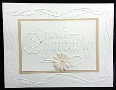 darice embossing folder with sympathy - Google Search