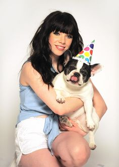 Aww! That dog is so cute! And Carly is so good with it! :)