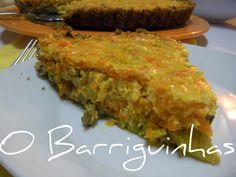 O Barriguinhas: Tarte de Legumes em Base de Pão Quiches, Meatloaf, Base, Breakfast, Food, Tarts, Morning Coffee, Essen, Meals