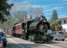 On the former narrow gauge line, tourism still heads to Santa Cruz beaches.