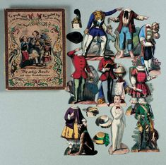 "Paper Dolls, 1790-1940 - The Collection of Shirley Fischer: 33 1850's German Boxed Set of Paper Dolls ""The Genteel Boy and His Doings"""