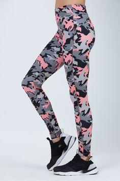 8dbf159f3b0f41 Tamara Camo Leggings by Bandier Pink Yoga Pants, Camo Leggings, Pregnancy  Clothes, Gaston